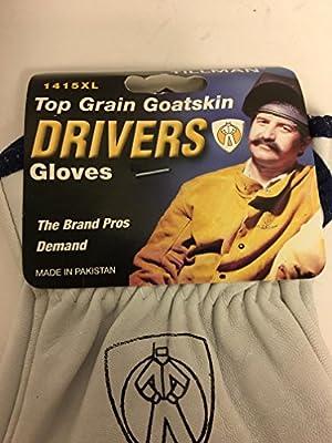 Tillman 1415 Unlined Top Grain Goatskin Drivers Gloves, X-Large