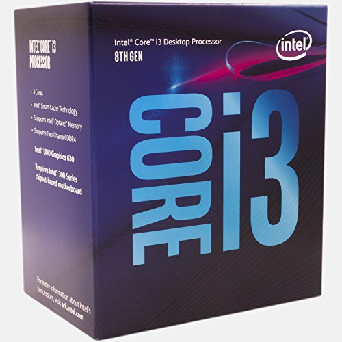 Intel Core i3-8100 Desktop Processor 4 Cores 3.6GHz  LGA1151 300 Series 65W BX80684i38100