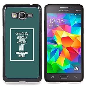 Eason Shop / Premium SLIM PC / Aliminium Casa Carcasa Funda Case Bandera Cover - Arte Vida inspirada texto - For Samsung Galaxy Grand Prime G530H / DS