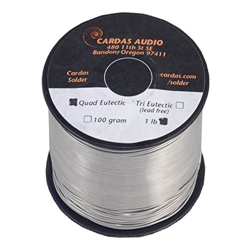 Cardas Soldering Wire Quad Eutectic Silver Solder with rosin flux 1 lbs (450g)