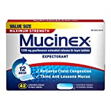 Mucinex SE 12 Hr Max Strength Chest Congestion Expectorant Tablets, 42ct