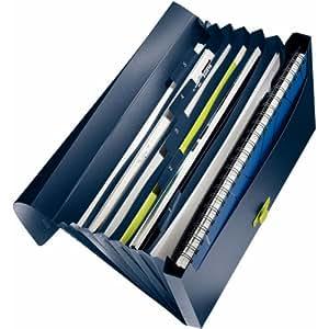Leitz 46240069 - Archivador con 6 compartimentos A4 color azul oscuro