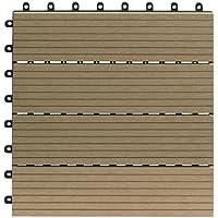 Juego de azulejos Gartenfreude impermeables para terraza, 30x