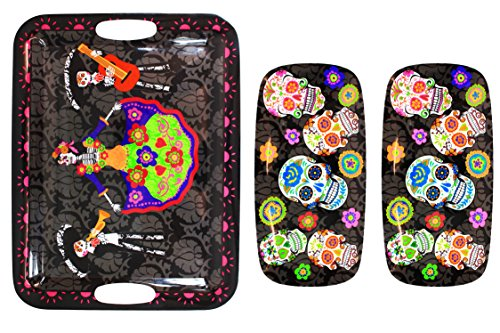 Sugar Skull Day of the Dead Triple-Tray (Halloween Decorations Rentals)