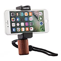 Features: Smartphone Rig Clip Adopts the spring design for easy adjusting your device. With soft rubber, it will not cause damage to your equipment when install your mobile phones. Tripod Mount with Hot Shoe Mount  With the TARION H1, ...