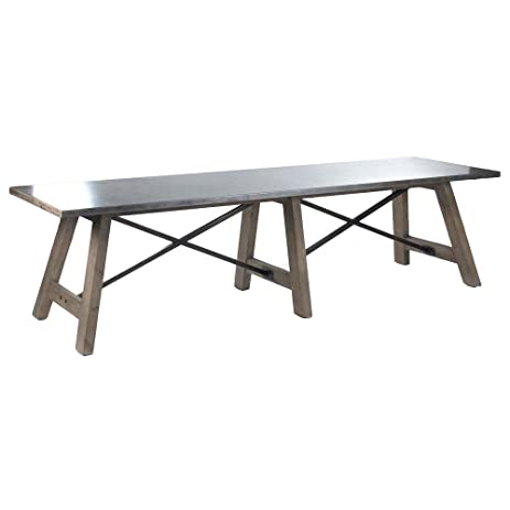 Enjoyable Amazon Com Calistoga Industrial Rustic Powder Coat 12 Seat Machost Co Dining Chair Design Ideas Machostcouk