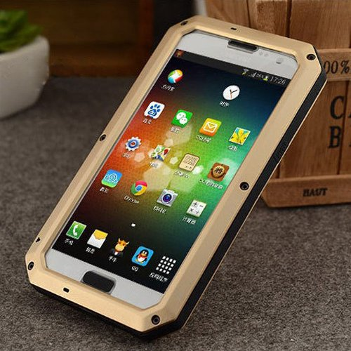 Geekbuying Weather Dirt Shockproof Protective Case with Gorilla Glass for Sumsung Galaxy Note 2 II N7100 (gold)