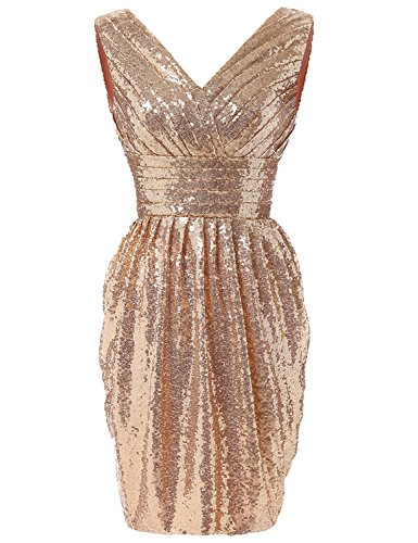 YIRENWANSHA 2018 Short Prom Dress Pleated Maxi Gown For Women Formal Empire Waist Evening Sash Ball Gown HSQ18ST Rose Gold Size (Empire Waist Sash)