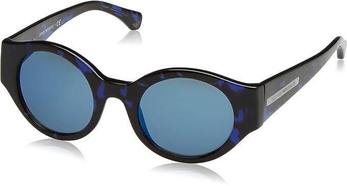 Emporio Armani homme 0EA4044 543155 47 Montures de lunettes, Bleu  (Havanblue Blue Blue 28fb93a28dd8