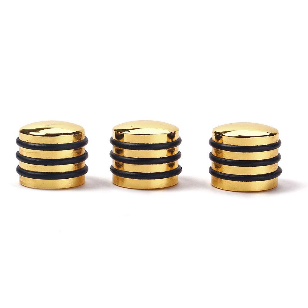MagiDeal Cylinder Dome Gold Polished Control Knob Split Shaft Knobs for Bass Guitar