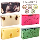 {SOAPTOPIA} – Luxury Handmade Soap Bar With Organic All-Natural Ingredients | Soothing & Cleansing Natural Bar Soap For Men & Women | Skin Rejuvenating & Deliciously Scented Body Wash Soap For Sale