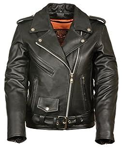 Milwaukee Women's Full Length Motorcycle Jacket (Black, Large) (B00UR90VQM) | Amazon Products