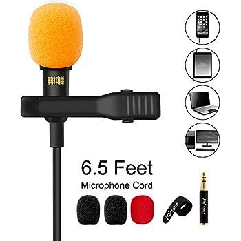 Amazon com: PoP voice Professional Lavalier Lapel Microphone