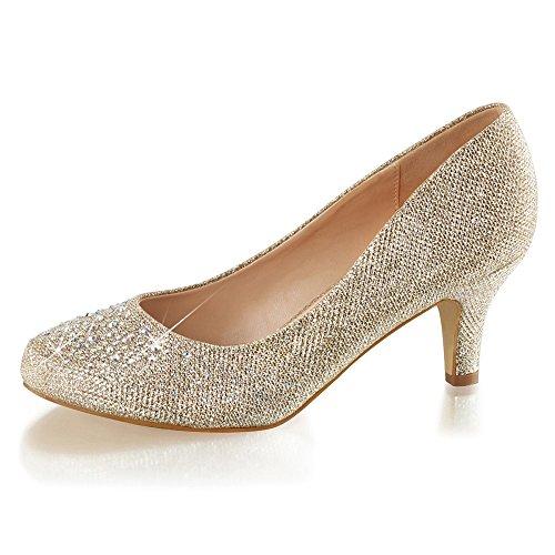para de plateado Zapatos Sintético mujer Material Heels Perfect plateado de vestir Z60wZEqT