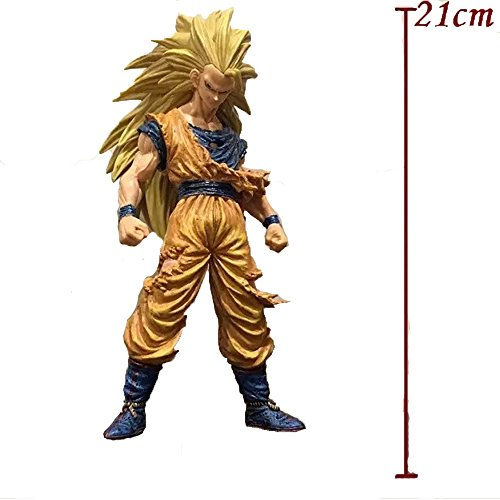 [Best Anime Action PVC Collectible Cool Action Figures From popular Anime Perfect dolls] (Super Saiyan Goku Wig)