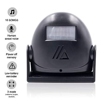 Cargar Campana, amytech zutritt Detector Detector de movimiento detector de paso con PIR Sensor: Amazon.es: Bricolaje y herramientas