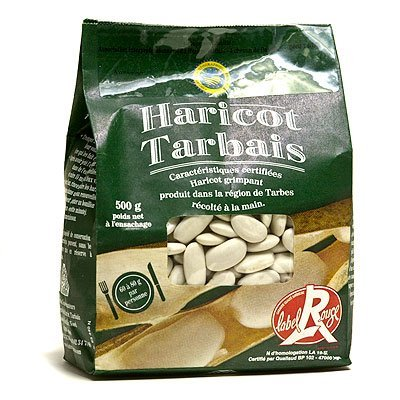 Label Rouge Dry French Tarbais Beans Red Label (Haricot Tarbais) - 4.4 Lbs (2kg) by Label Rouge