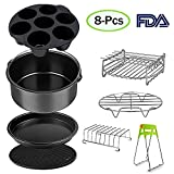 Air Fryer Accessories Set for 3.7, 5.3, 5.5, 5.8 QT,12 pieces for Gowise Phillips and Cozyna Air Fryer