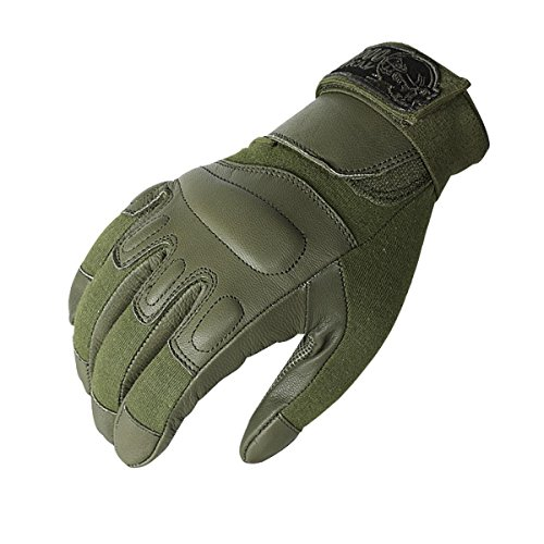 Voodoo Leather - VooDoo Tactical 20-9079004093 Intruder Gloves, OD, Medium