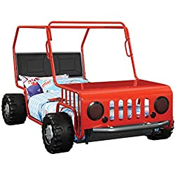 Coaster Casey Jeep Twin Bed in Red