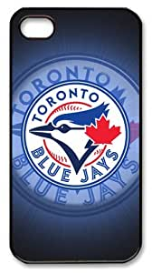 LZHCASE Personalized Protective Case for iPhone 4/4S - MLB Toronto Blue Jays