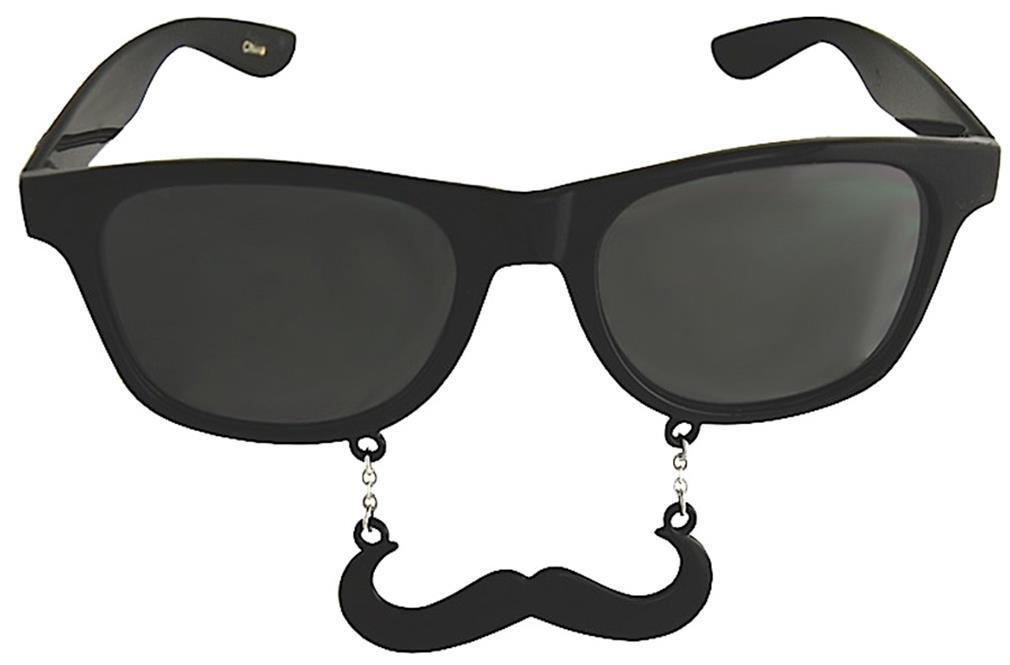 Costume Sunglasses Black Handlebar Sun-Staches Party Favors UV400