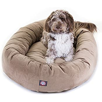 Amazon.com : 52 inch Stone Suede Bagel Dog Bed By Majestic