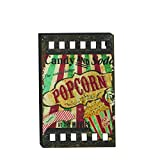 Cheap Wood Movie Wall Plaque Decor Popcorn Theater Ticket Hollywood Media Reel Unique (Popcorn Sign)