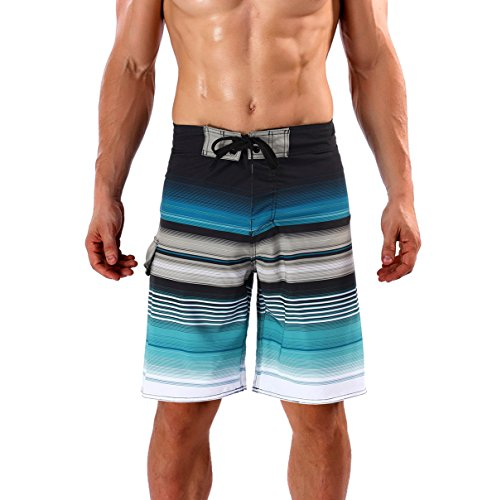 Milankerr Men's Stripe Boardshort (32, Stripe Blue) by Milankerr