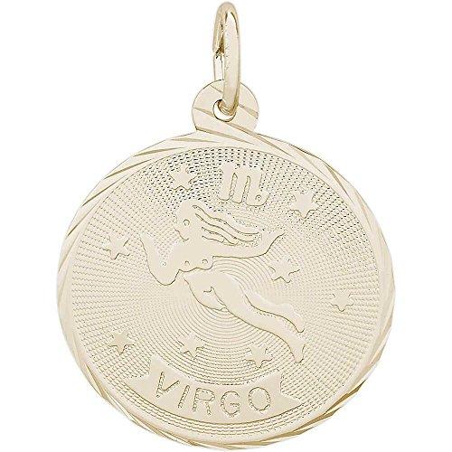 Zodiac Symbol Sign Italian Charm (Rembrandt Charms Virgo Charm, 14K Yellow Gold)