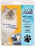 Soft Claws Feline Soft Claw Nail Caps - Black - Medium by Soft Claws