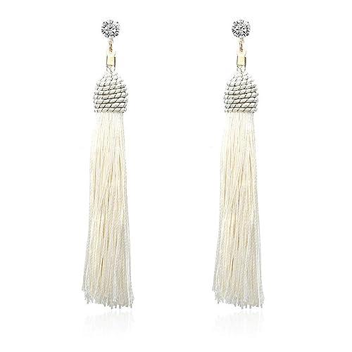 c6f45f8feaf805 Tassel Long Earrings Silk Hanging Earrings For Women Jewelry Dangle Earring  e0121bai