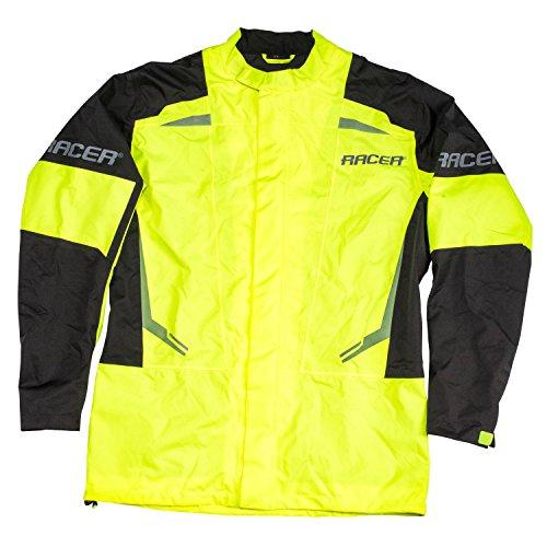 Racer FLEX Regenjacke Motorrad - fluo gelb schwarz Größe 5XL