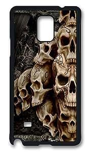 Samsung Galaxy Note 4 Case, Skulls Designed Rugged Case Cover Protector for Samsung Galaxy Note 4 N9100 Polycarbonate Plastics Hard Case Black