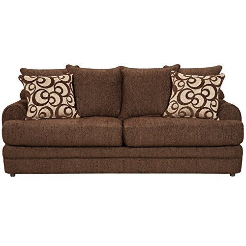 Flash Furniture Exceptional Designs Chenille Sofa, Caliber Walnut