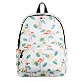 Backpacks School Bookbags For Girls | Mochilas De Mujer | Cute Daypacks College Travel Bags Women Fashion Floral Pineapple Bag (Flamingo)
