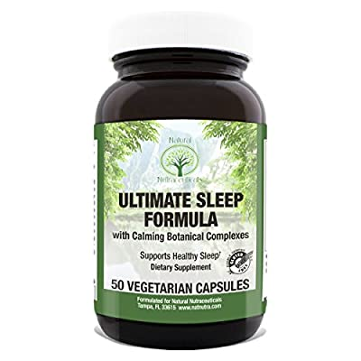 Ultimate Sleep Aid by Natural Nutra – Calming Formula Supports Healthy Sleep with GABA, No Melatonin or Valerian, 50 Capsules