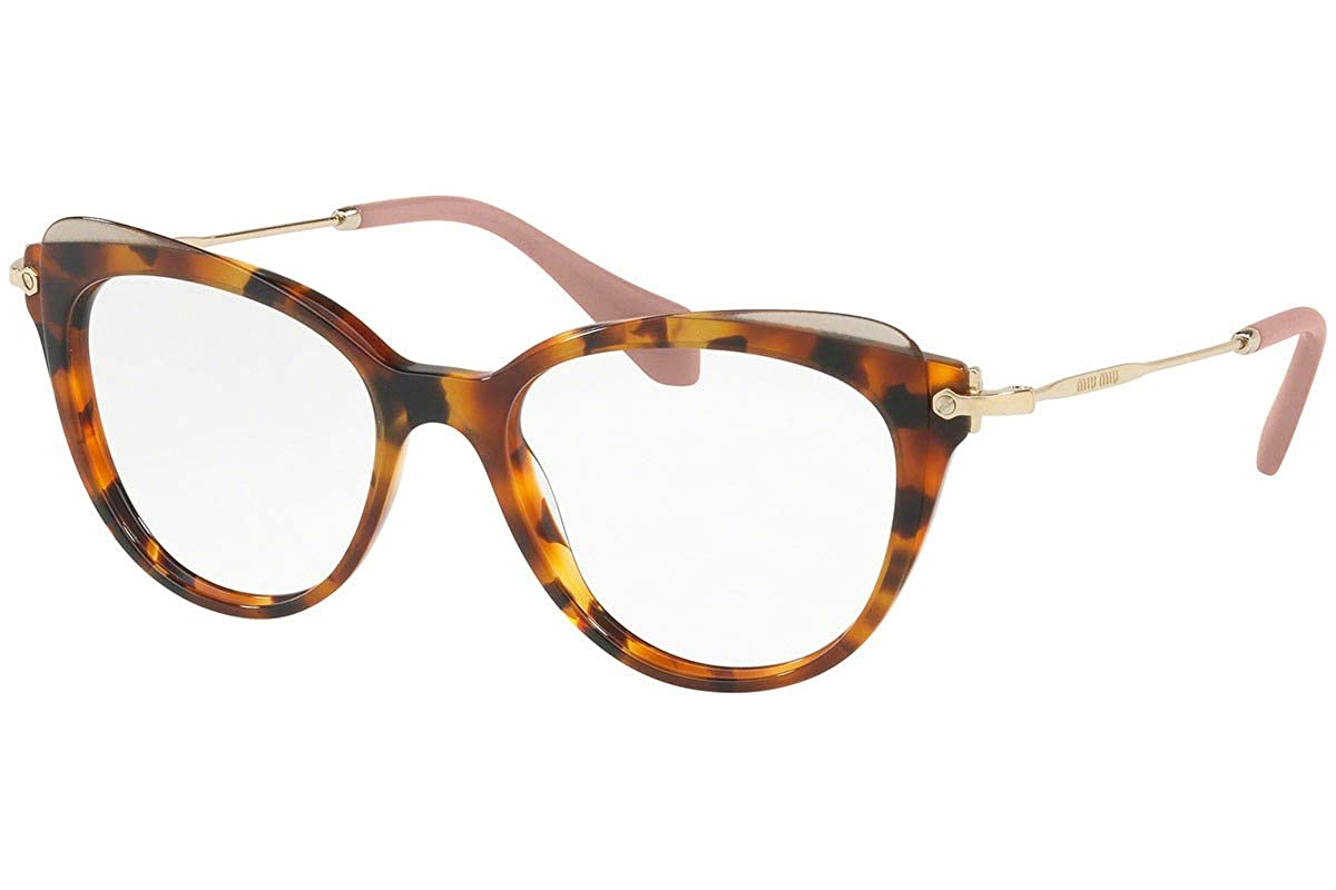 f2e0f3f355e3 Amazon.com: Miu Miu MU01QV Eyeglasses 50-17-140 Havana w/Demo Clear Lens  VX81O1 MU 01QV VMU01QV VMU 01QV: Clothing