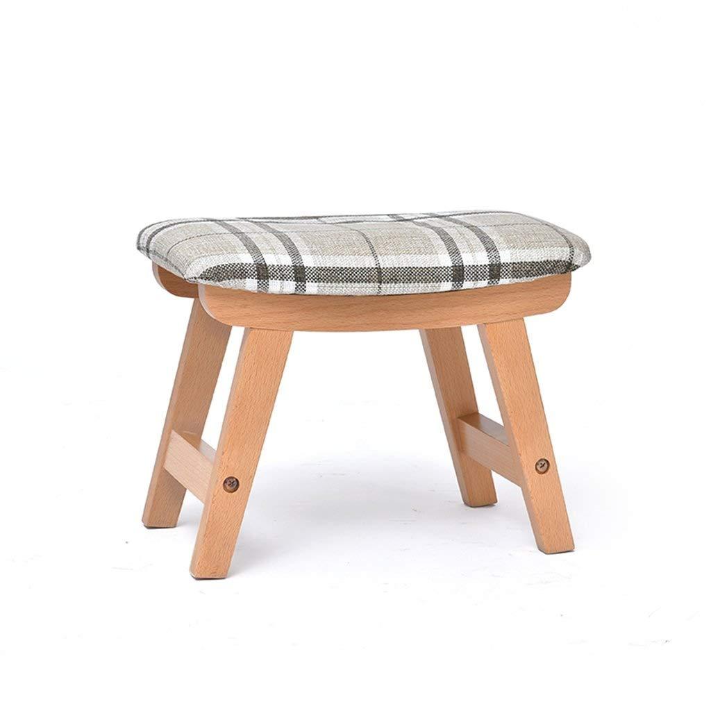 ZDXMZ Stool,Wood Step Stool Child Bench Chair Finish Home Decor(38.5 25.5 29cm) (Color : C) by ZDXMZ