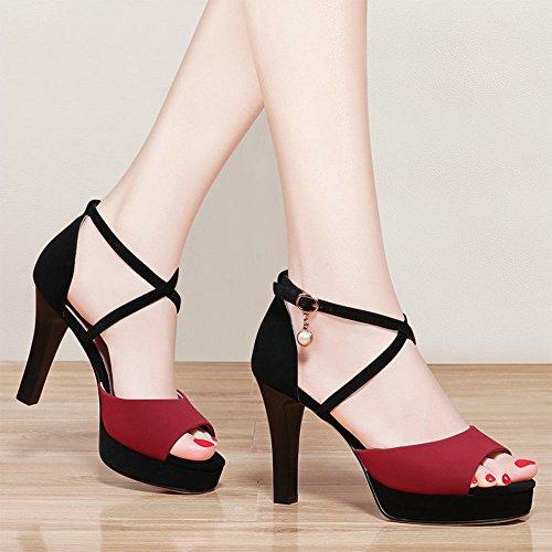 Altos 5 Tamaño Xia Tacones color cn35 Zapatos Solo Verano Eu36 amp;chanclas Sandalias Moda B uk3 vOIBqO