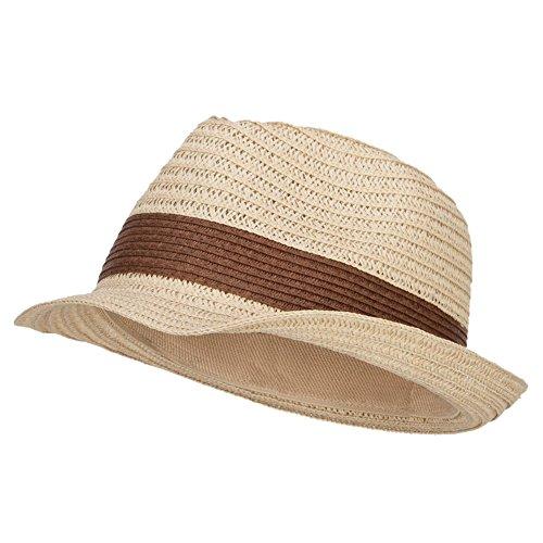 Women's Toyo Braid Fedora Hat - Natural Brown - Toyo Wide Hat Braid