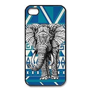 iPhone 4,4S Cases Cell phone Case Wrncy Elephant Aztec Plastic Durable Cover