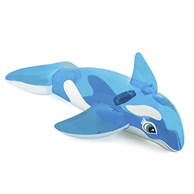 Childs Inflatable Ride-on Whale 60'' x 45'' Intex: Toys & Games