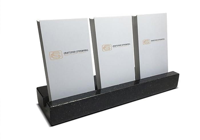 Amazon multiple vertical business card holder made from black multiple vertical business card holder made from black absolute granite holds 3 sets of vertical colourmoves