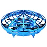 Womdee Drones for Kids Mini Indoor/Outdoor Drone with LED Light - 360°Rotating Hands Free Hover Drone w/ 3 Micro Drone Sensors for Autopilot for Beginner Drones Flying Toys (Blue)