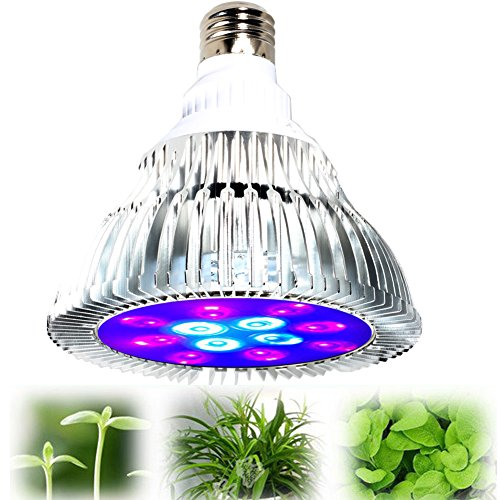 Yesorno LED Grow Light bulb, High Efficient Hydroponic Plant Grow Lights system for Garden Greenhouse and Hydroponic Aquatic,12W , Best Gift for Mother Day (Stem and leaf plants,8 Red: 4 Blue)