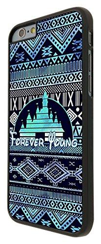559 - Cool Vintage Aztec Ornate Forever Young Funky Design iphone 6 Plus / iphone 6 Plus 5.5'' Coque Fashion Trend Case Coque Protection Cover plastique et métal - Noir