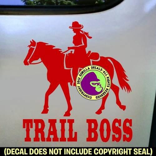 TRAIL BOSS Western Rider Vinyl Decal Sticker B