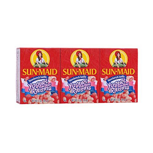 - Sun-Maid Sun-Maid Strawberry & Vanilla Yogurt Flavored Raisins 6/1oz, 1 oz