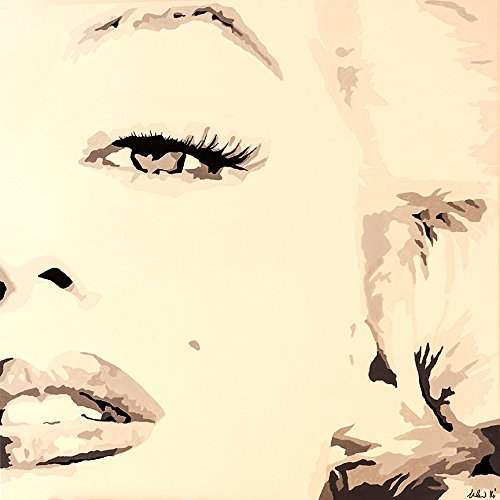 CANVAS She Knows by PopArtQueen 24X24 Gallery Wrap Marilyn Monroe Pop Art Vintage Fashion ()